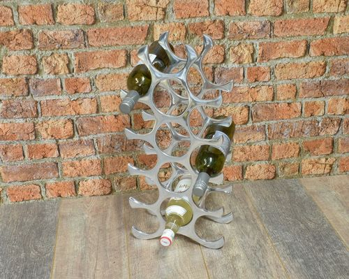 Aluminium 15 Bottle Wine Rack